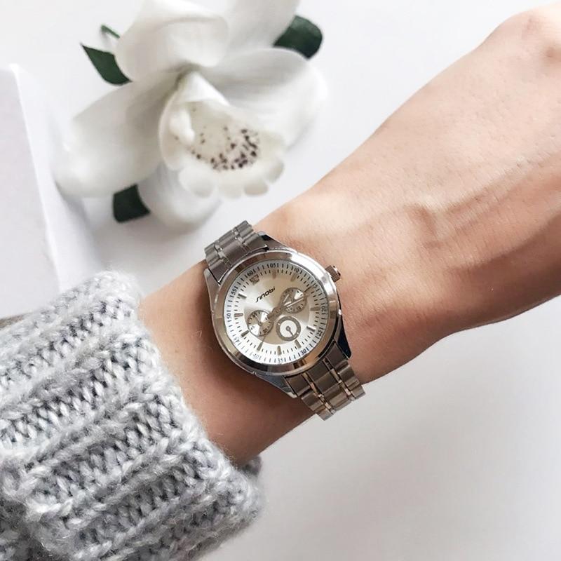 SINOBI Qadın Antik Kvars saatı Qara Qutu Xanımlar Gümüş - Qadın saatları - Fotoqrafiya 3