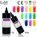 Bulk package Nail Gel colorful gel polish soak off uv gel lacquer Bright color bling gelpolish L&M in kg wholesale gel lak