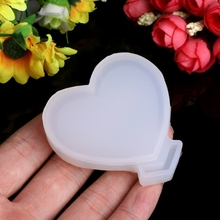 JAVRICK Transparent Silicone Pendant Mould Resin Loving Heart DIY Jewelry Making Tool Fondant Cake NEW