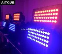 8 los Outdoor led stadt farbe licht 96x10 watt rgbw led wasserdicht stadt farbe licht ip65 wall washer unten lichter runde