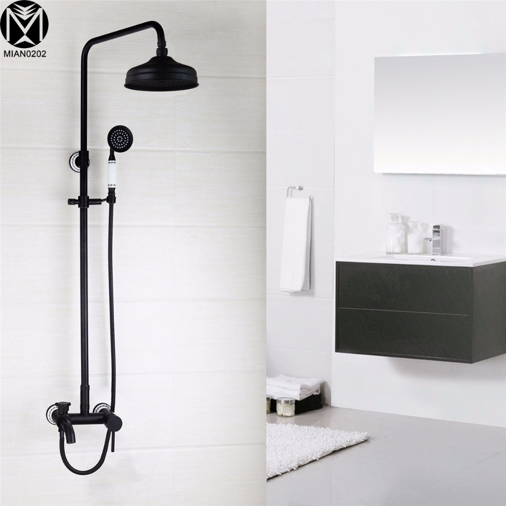 Yanksmart Bathroom Rain Shower Faucets Oil Rubbed Bronze Tub Shower ...