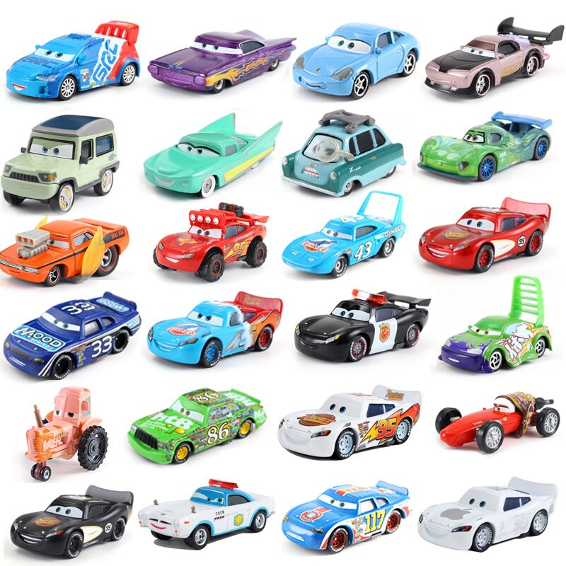 Disney Pixar Cars 3 Dinoco Lightning McQueen Mater Jackson Storm Ramirez 1:55 Diecast Metal Alloy Model Toy Car For Children
