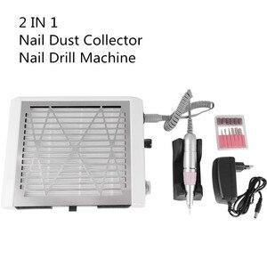 Image 5 - NAIL ART 2 en 1 30000 tr/min perceuse à ongles 45W forte collecteur de poussière dongle aspirateur ongles Art outil manucure pédicure Machine