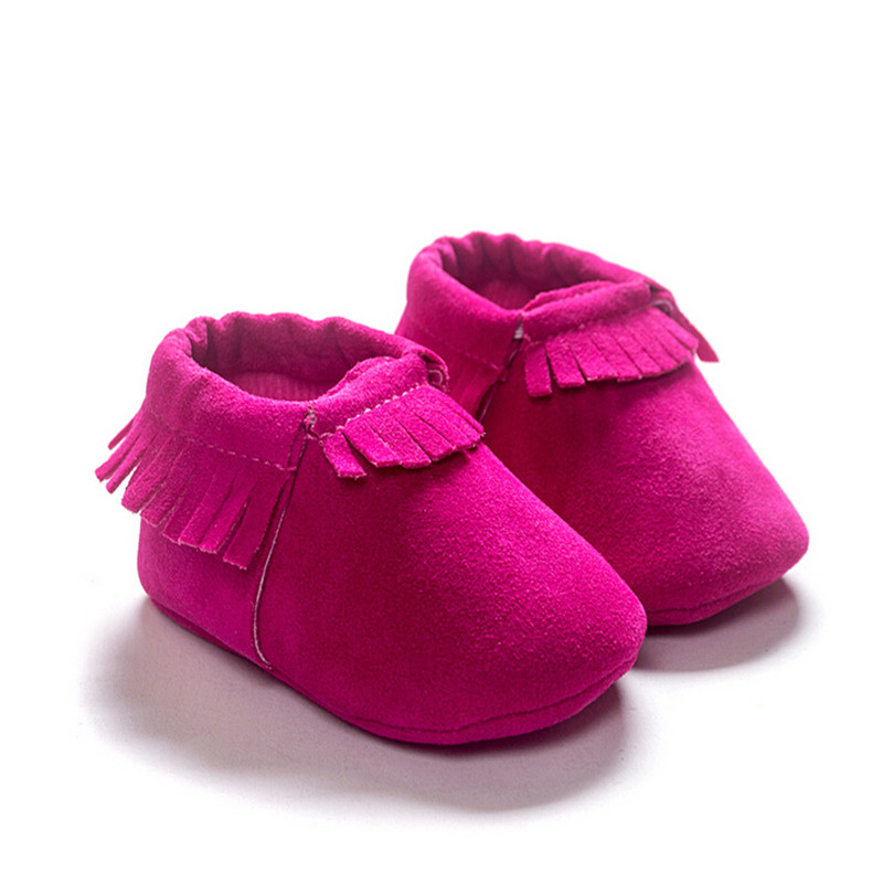 2016 Hot sale Baby Toddler Tassel PU Leather Shoes First Walkers soft bottom antiskid