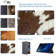 "Tab S2 SM-T810 Animal Fur Texture Tablet Case Smart Protective Cover Stand 9.7"" Fundas For Samsung Galaxy Tab S2 9.7 T815 T815C"