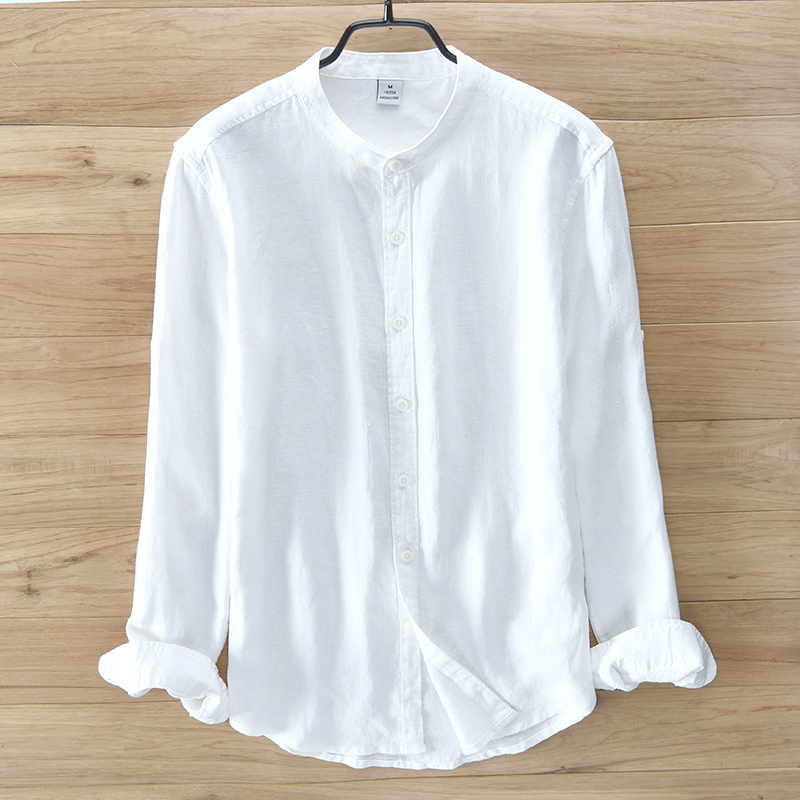Italy brand 100 linen shirts men long sleeve shirt men for Shirts made in italy