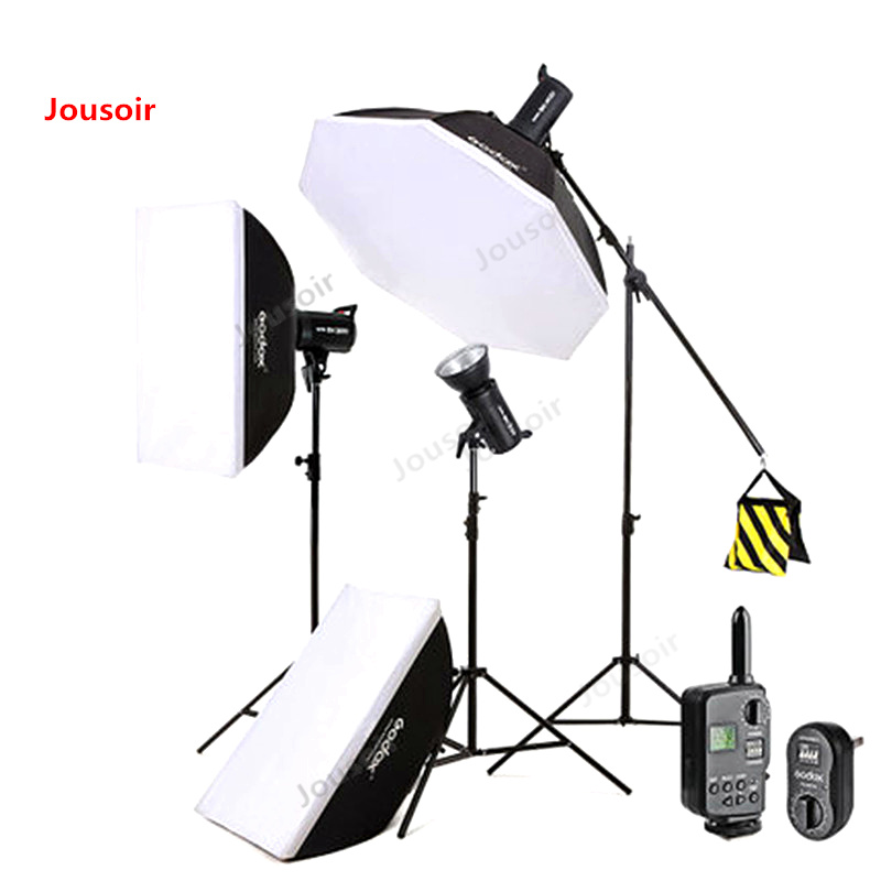 <font><b>Godox</b></font> Sk400w photography light <font><b>300</b></font> w photo shooting light clothing portrait studio flash kit CD50 T03 image