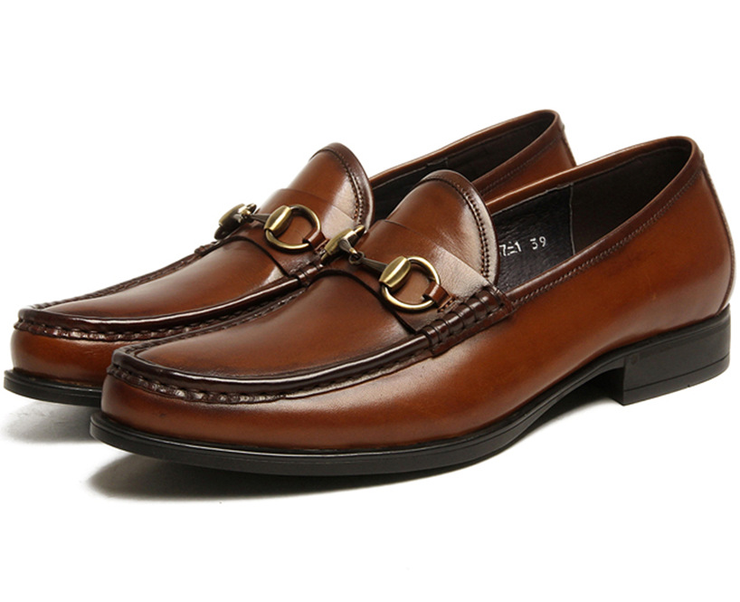 Fashion brown tan / black summer loafers shoes mens wedding genuine leather dress shoes mens business shoes with buckle crocodile grain brown tan black summer loafers dress shoes genuine leather business shoes mens wedding shoes with buckle