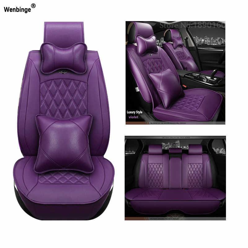 Universal couro do plutônio tampas de assento de carro para seat leon ibiza cordoba toledo marbella terra ronda acessórios do carro adesivos 3d