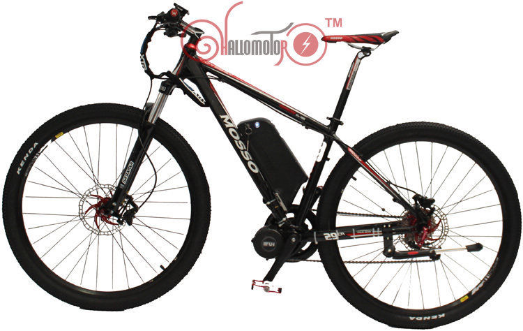 цена на Free Shipping 48V 750W MOSSO 29er Ebike Electric Bicycle 8FUN Mid-Drive Motor+ 9 Speed+48V 12AH Lithium Battery+LCD Display