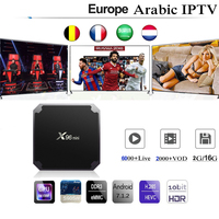 X96mini Iptv France Spain Europe Arabic Israel Belgium Adult Sport Box With 1 Year free Iptv Subscription M3U X96 Mini tv box