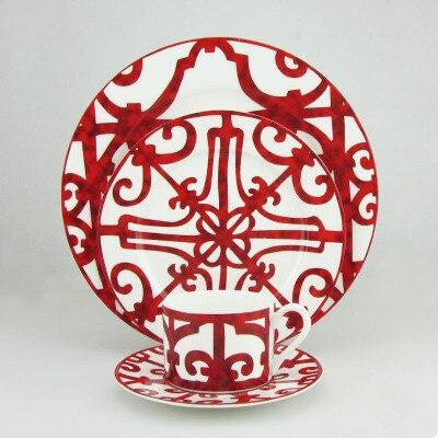La tasse à café en céramique de décoration de glaçure occidentale de haute qualité place le rouge avec la boîte-cadeau