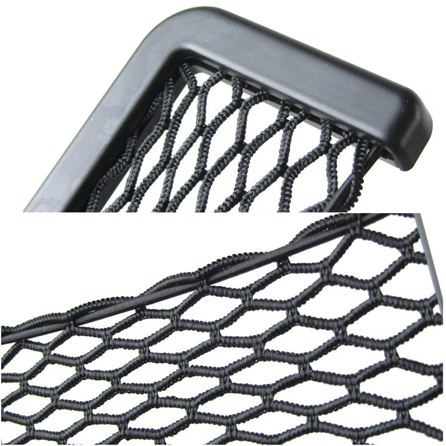 Image 2 - YCCPAUTO 1Pcs Car Organizer Storage Bag Auto Paste Net Pocket Phone Holder Car Accessories 20*8CM 8*15CM Universal-in Nets from Automobiles & Motorcycles