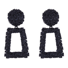 Big Vintage Earrings for women gold color Geometric statement earring metal earing Hanging fashion jewelry trend