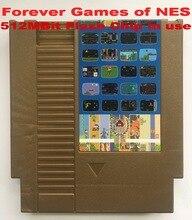 PARA SEMPRE DE JOGOS NES 405 em 1 Cartucho de Jogo de NES Console