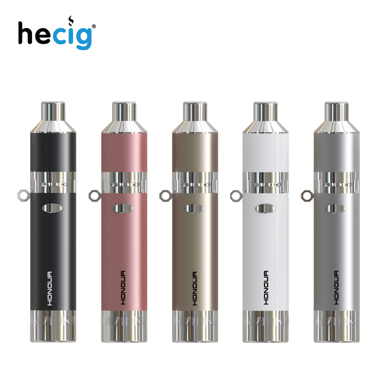 Original Hecig honour 2 in 1 wax pen dry herb vaporizer built-in battery 1400mah smok vaporizador vape pen vape kit hecig wax