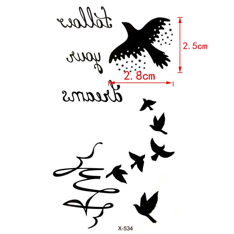 ガチョウ防水一時的な入れ墨ステッカー鳥フラッシュタトゥー原宿ヘナタ動物一時的な入れ墨男性女性tatouage