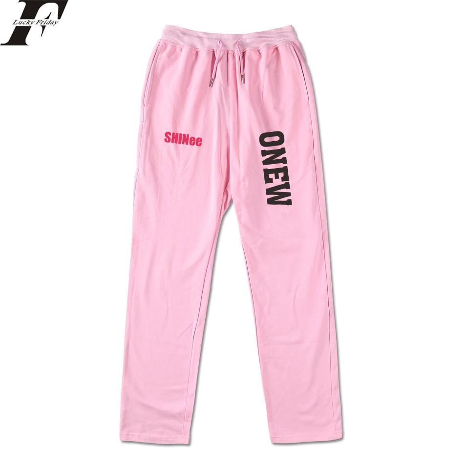Casual Hosen Luckyfridayf Shinee Kpop 100% Baumwolle Liebe Selbst Frauen/männer Hohe Qualität Hosen Casual Jogginghose Jogger Hosen Phantasie Farben