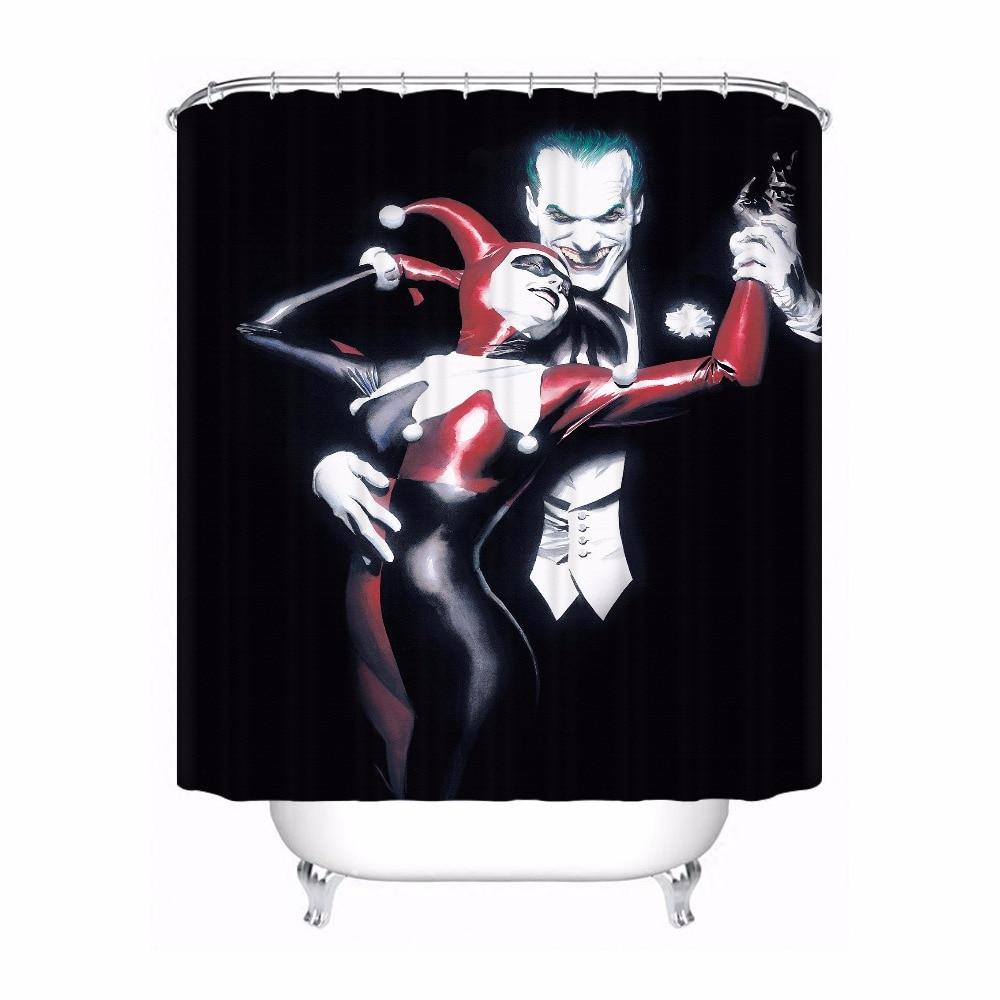 US $10.10 10% OFFCustom Waterproof Shower Curtain Harley Quinn Printed  Bathroom Decor Various Sizes #100320 10 106Shower Curtains - AliExpress