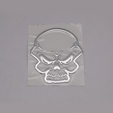 1 Pcs 9x10cm 3D Skull Head Side Saddle Bags Stickers Decals For Harley Honda Kawasaki Yamaha Suzuki Car Motorcycle Emblem Badge