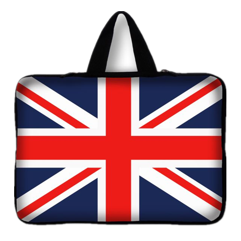 7 9.7 11.6 13 13.3 14.4 15.4 15.6 17.3 England Flag Laptop Sleeve bag Notebook case For Macbook air pro slim briefcase cover #D