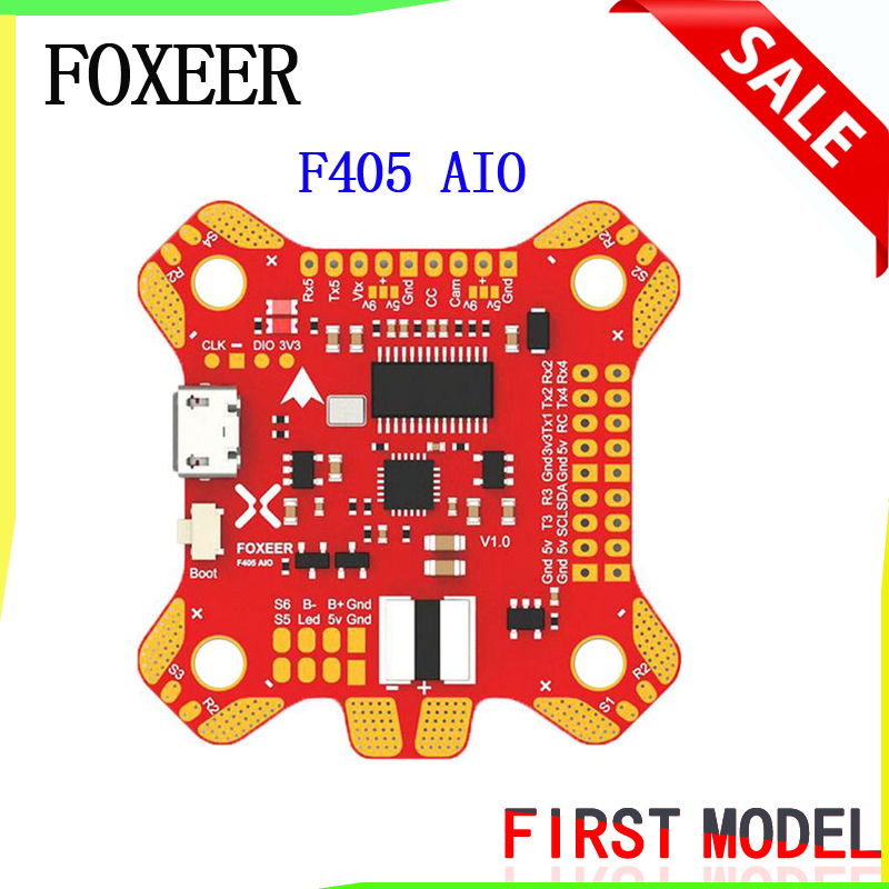 New Arrival Foxeer F405 AIO Flight Controller with Betaflight OSD F4 Flight Control Board for FPV