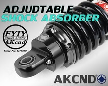 AKCND Universal 320mm-340mm /12.5 Motorcycle shock absorber Rear For yamaha honda suzuki aerox nmax 155 dio pcx