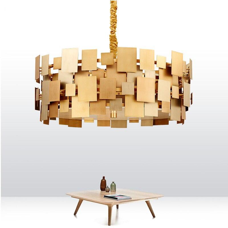 gold led pendant lights for high ceilings dining room pendant lamps modern for home lighting AC 110V 260V