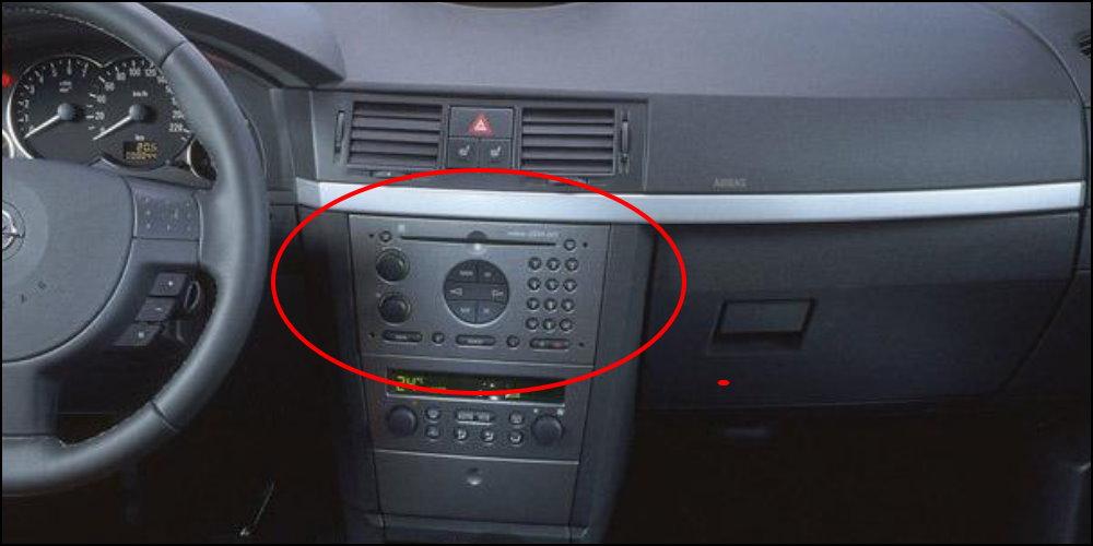 radio cd player Opel-Meriva-Interior-Dashboard