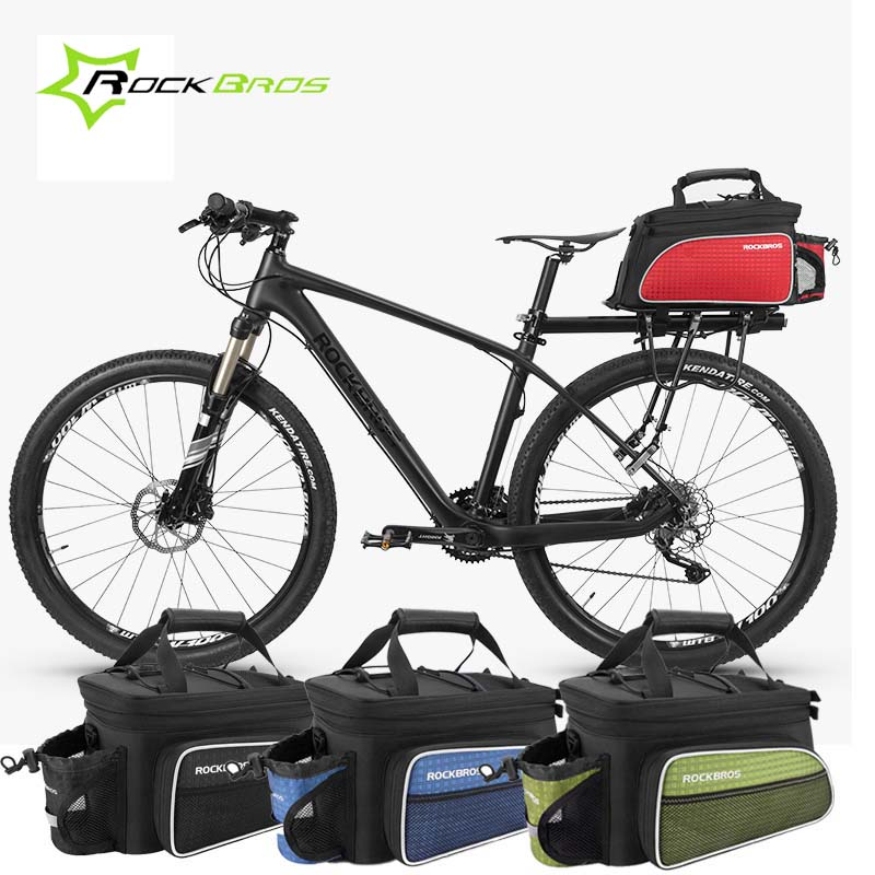 Rockbros 3 IN 1 Multifunctional Bicycle Bag MTB Saddle Luggage Panniers Cycling Rear Rack Bag Mountain Bike Bag Bicycle Trunk rockbros large capacity bicycle camera bag rainproof cycling mtb mountain road bike rear seat travel rack bag bag accessories