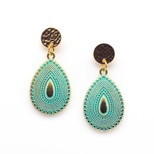 E138 fashion earrings earrings female temperament major suit simple aliexpress selling jewelry mixed batch silver jewelry inlaid natural blue earrings shine all match earrings fashion temperament section mixed batch