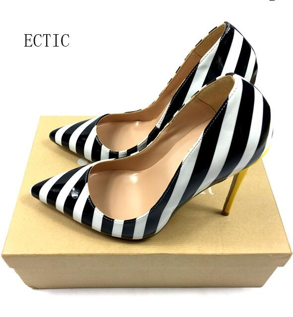 Top Quality Snake Shoes Extreme Thin Heels Women Pumps Sexy Women Shoes High Heels Ladies Shoes Chaussure Zebra Stripe stylish zebra stripe and rivets design women s satchel page 6