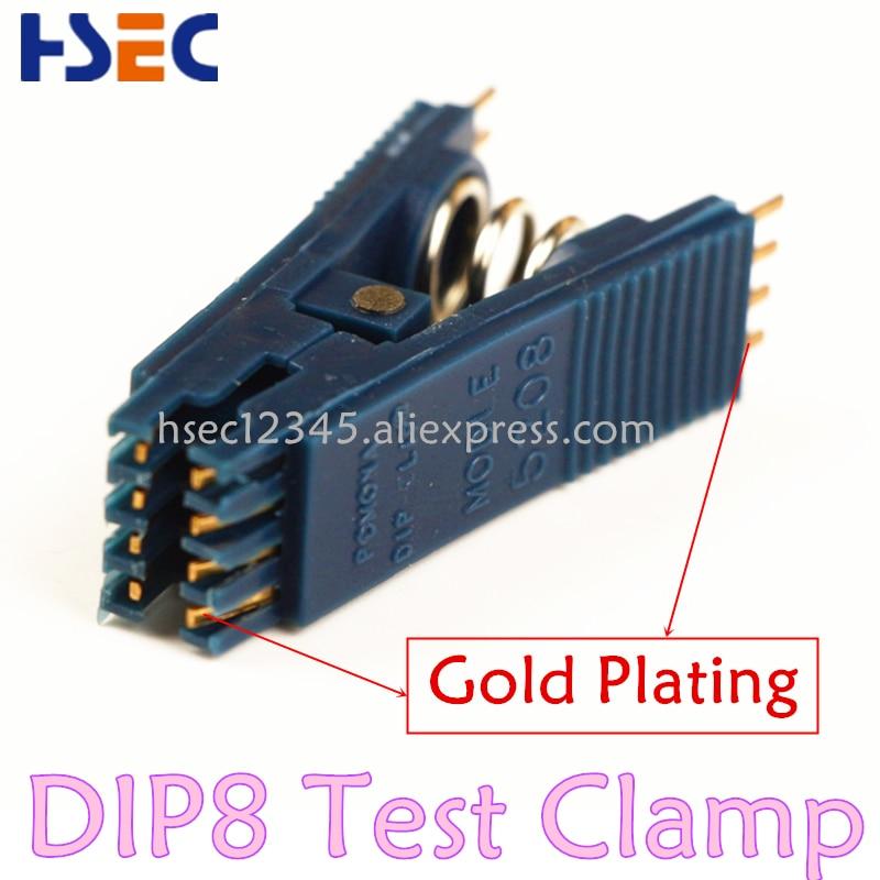 High Quality DIP8 Test Clip Clamp For Universal Programmer TL866 RT809F RT809H  EZP2010 13 EZP2019 CH341A USB EEPROM Programmer