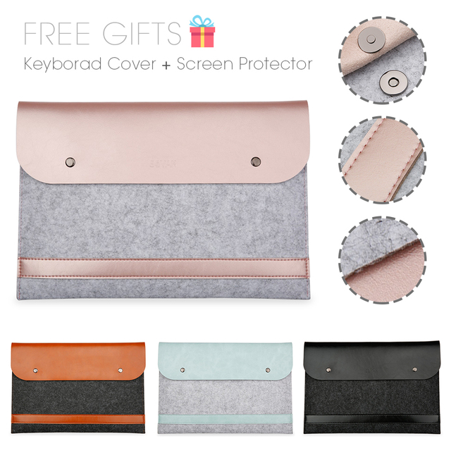 New Notebook  Liner Leather Sleeve Bag Case For Apple Macbook Air Pro Retina 11 12 13 15 Laptop For Mac book 13.3 inch