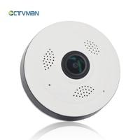 CTVMAN Wi Fi Camera IP 16GB SD Card With Panoramic 360 960P Fisheye Video Audio Talk