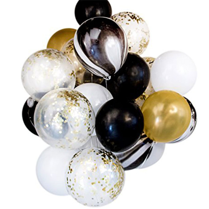 12-Blue-Pink-Black-Marble-Confetti-Balloon-Bouquet-Latex-Balloon-Sets-Baby-Shower-Birthday-Wedding-Party