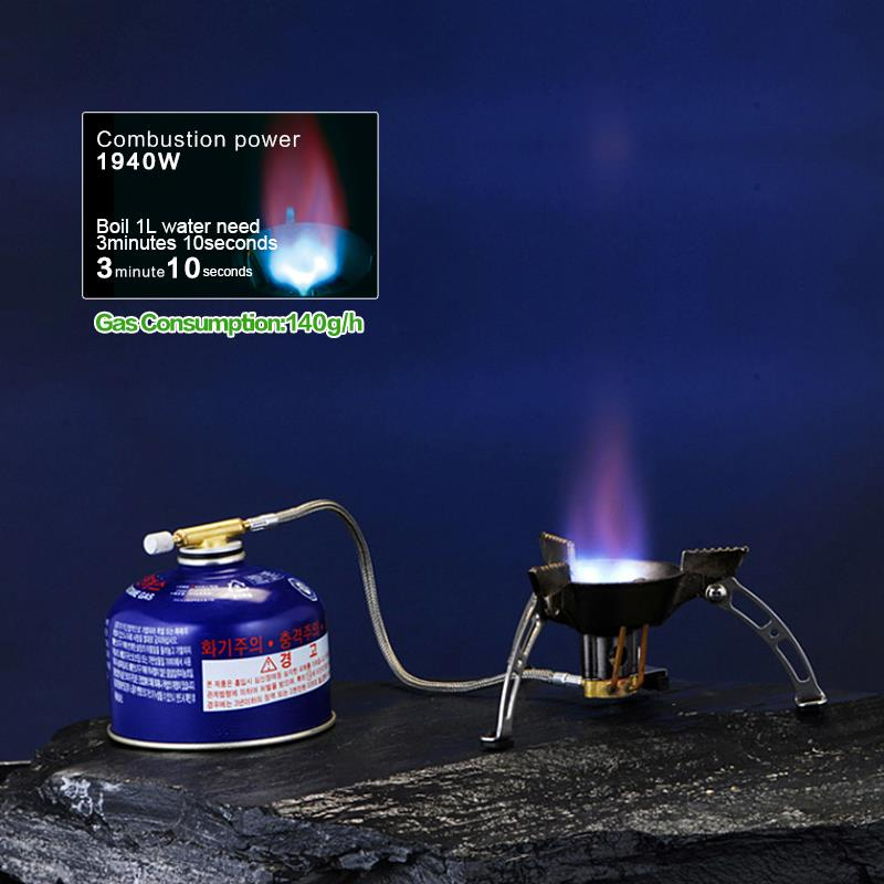 BRS 11 Portable Rotary Flame Camping Gas Stove Outdoor Camping Cooking Gas Stove Camping Equipment
