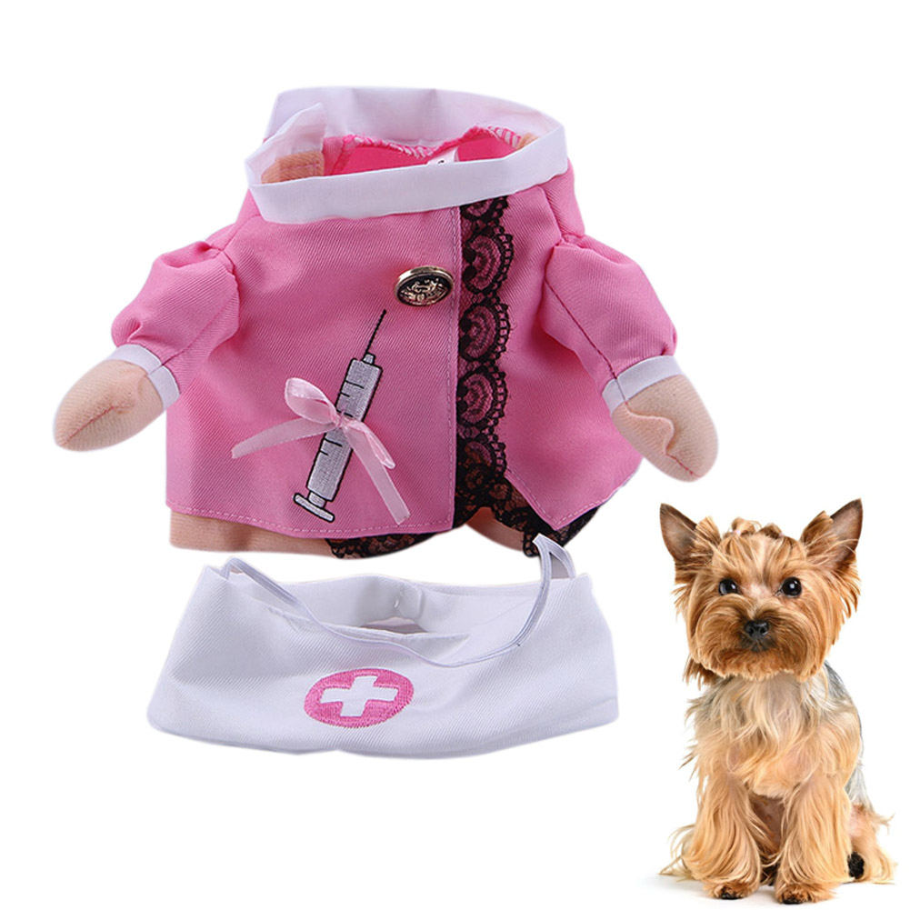 Halloween Cool Cute Costume Pet Cat Dog Nurse Cosplay Clothes Funny Coat Party Dress Hot Sale