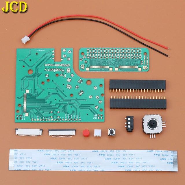 JCD 1 комплект DIY 6 кнопок печатная плата переключатель проводной разъем комплект для Raspberry Pi GBZ для Game Boy GB Zero GBO DMG 001