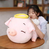 Fancytrader Cuddly Soft Stuffed Pig Animals Plush Toys Big Aime Angel Pig with Wings Nice Gifts 80cm 31inch