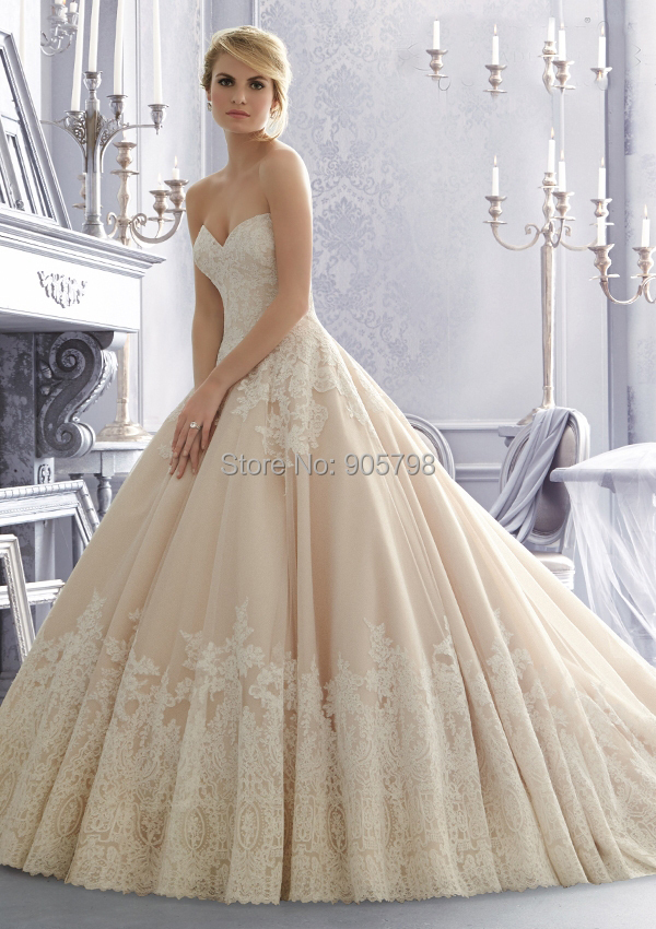 Dropshipping Strapless Sweetheart Neckline Low Back Ball Gown Appliqued Wedding Dress In Dresses From Weddings Events On Aliexpress