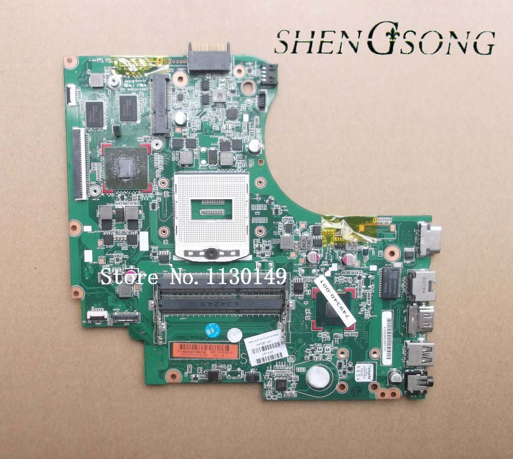 747261-501 Free shipping 747261-001 motherboard for HP Touchsmart 14-d laptop main board DDR3 820/2G 100% tested 574680 001 1gb system board fit hp pavilion dv7 3089nr dv7 3000 series notebook pc motherboard 100% working