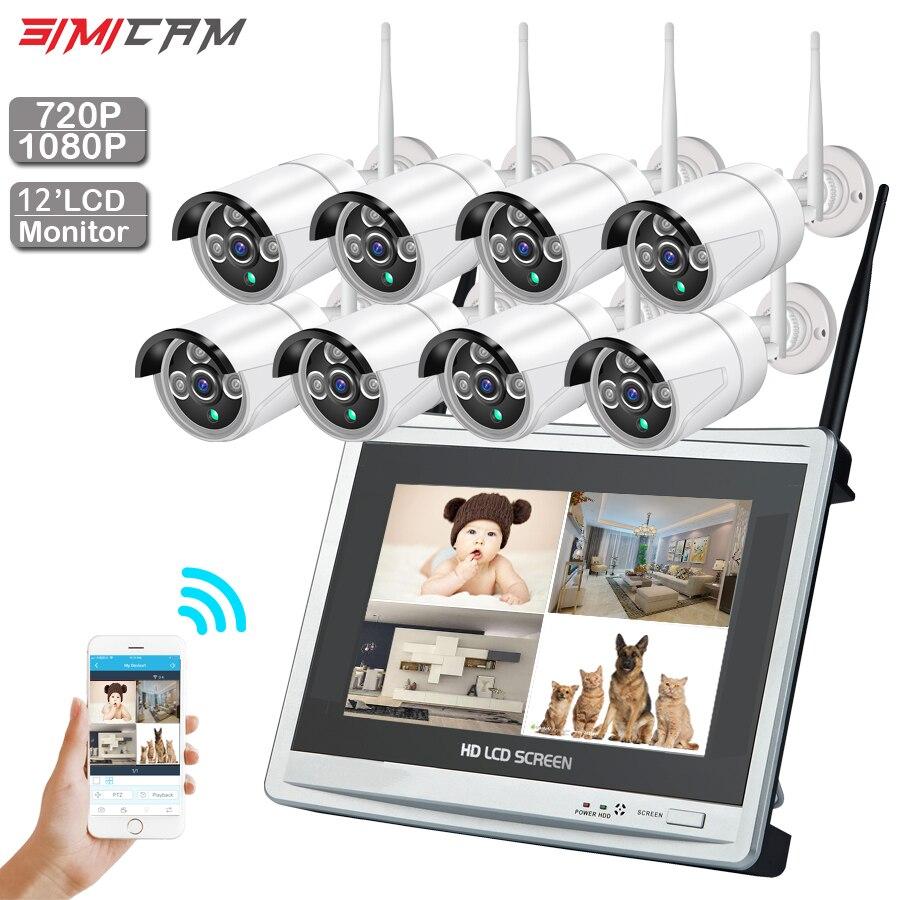 CCTV Камера Беспроводной система 720 P/1080 P 8CH 1MP/2MP IP Камера Водонепроницаемый Открытый P2P домашние системы безопасности комплект видеонаблюдени