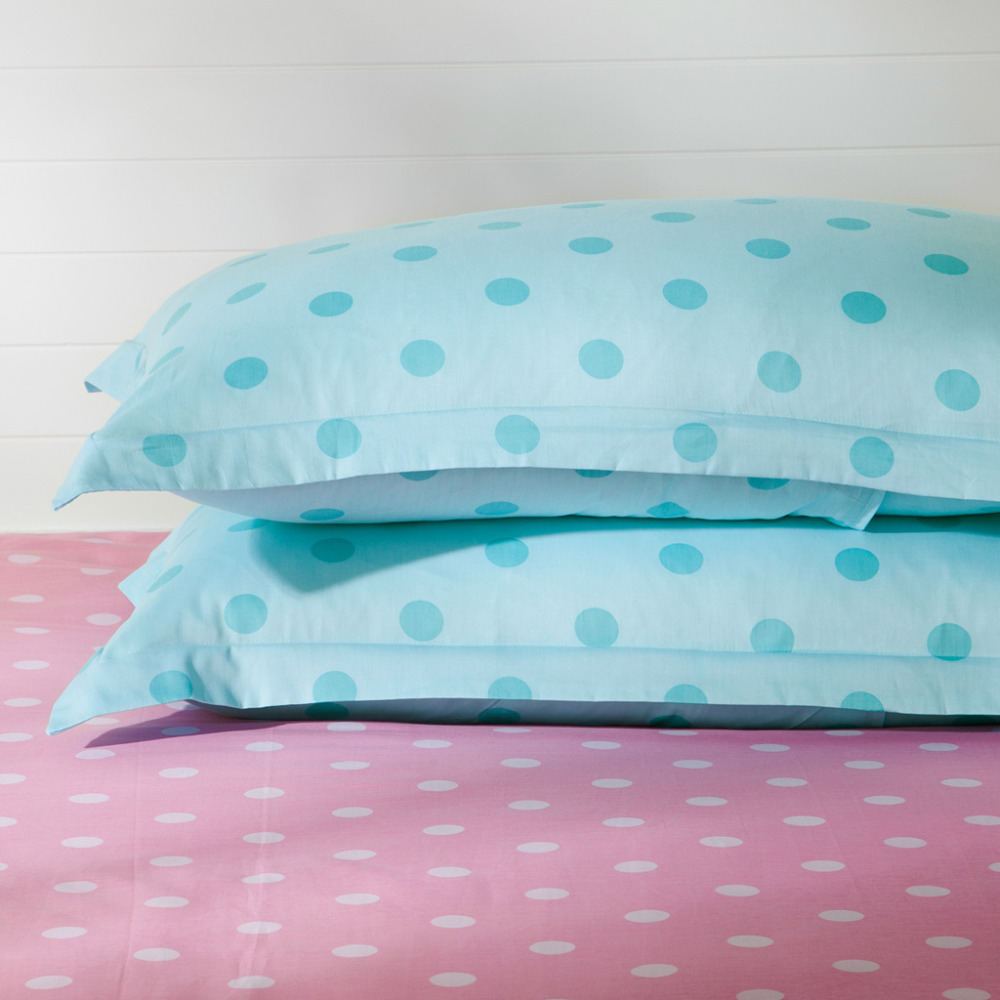 Blue polka dot bedding - Online Shop Blue Polka Dot Comforters And Quilts Blue And Pink Comforter Sets Housse De Couette Bed Sheets Ropa De Cama Bed Linen Aliexpress Mobile