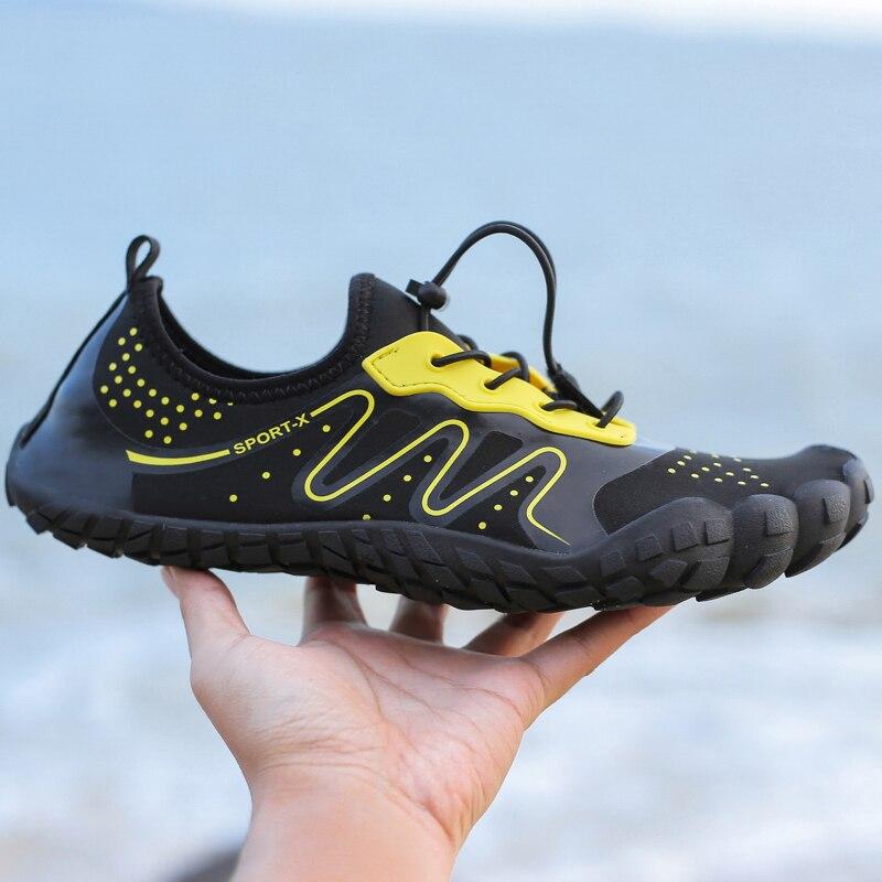 Sneakers Men Women Sport Shoe Upstream Shoe Diving Swimming Treadmill Barefoot ShoeFive Fingers Stickers Skin Soft Shoe 8026