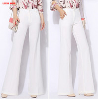 2017 Summer Women S OL Work Wear Trouser Straight Wide Leg Pants Female Bell Bottom Trousers