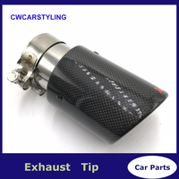 1PCS Inlet 48 51 54 57 60 63 66 70 MM To Outlet 114MM Car Styling Akrapovic Carbon Exhaust Tips Carbon Exhaust Muffler End Pipes