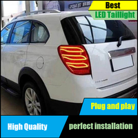 Car styling for Chevrolet Captiva 2008 2016 Dynamic turn signal LED Taillights Taillight Rear Lamp Driving+Brake+Reversing Light
