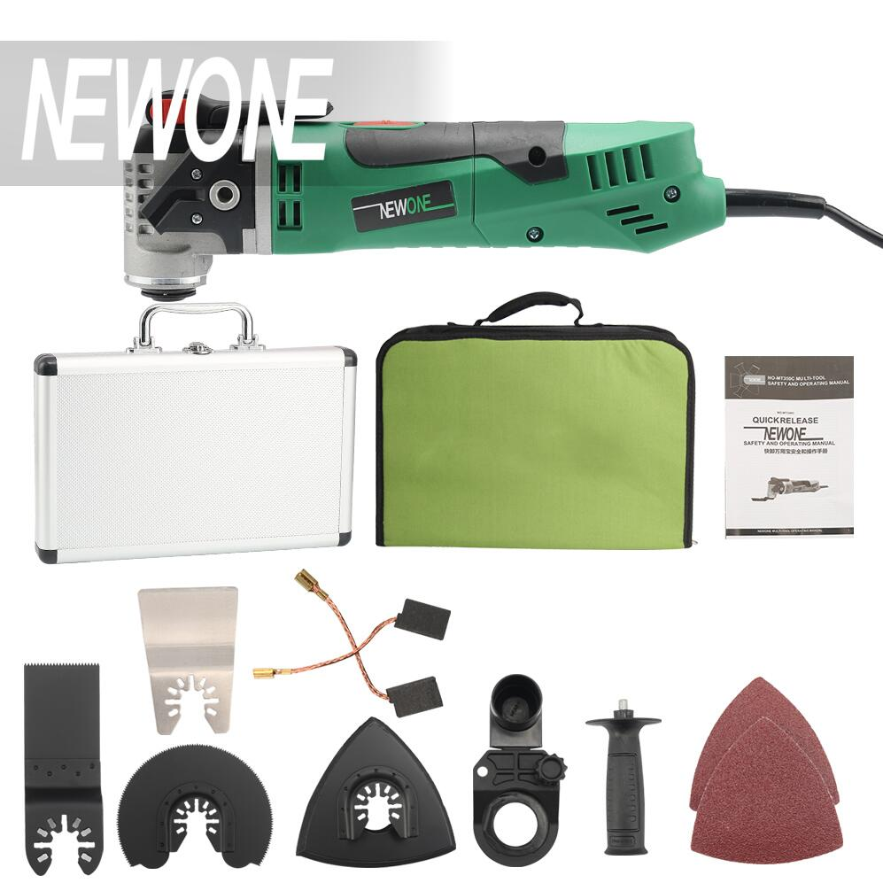 NEWONE Multi-Function Electric Saw Renovator Tool Oscillating Trimmer woodworking tool with fabric bag and Aluminum box odin&bosch tool bag multi function electric woodworking repair bag hardware electric belt