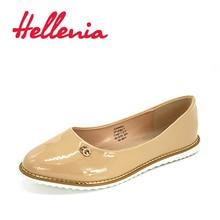 Hellenia Shoes Women Flats Spring Summer Flat Woman Moccasins patent pu